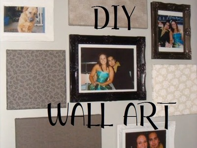 ● DIY: Fabric covered Canvas Art! ●