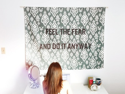 DIY HANGING QUOTE TAPESTRY