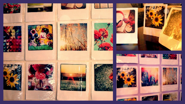 DIY Instagram Polaroid Room & Wall Decor
