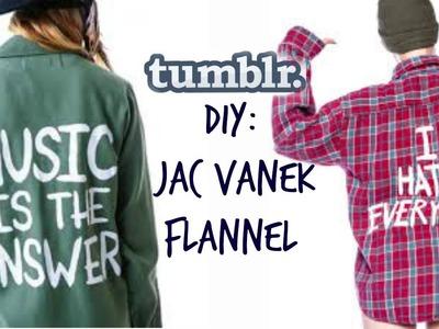 DIY: Jac Vanek TUMBLR Flannel