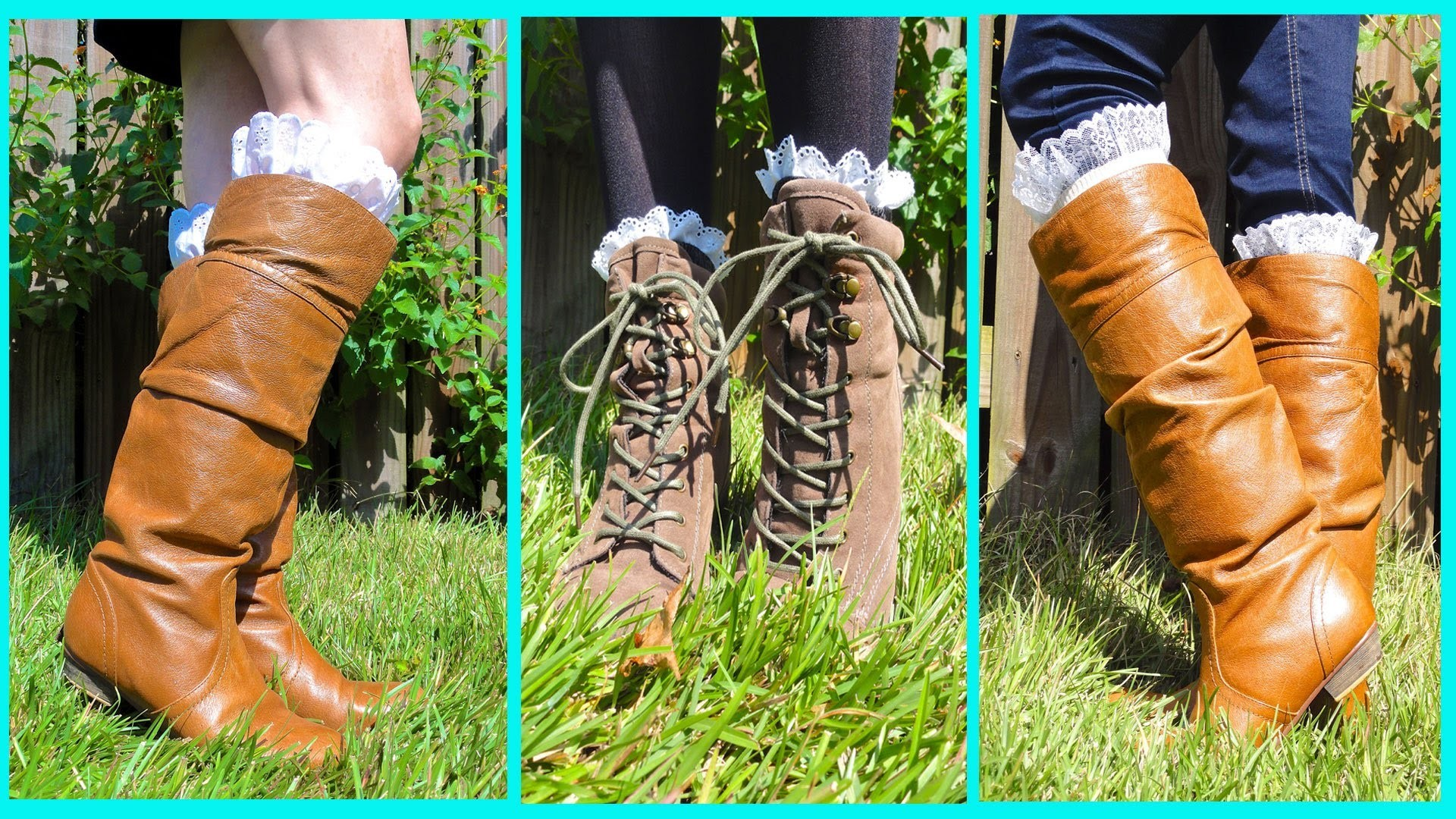 DIY Lace Boot Socks *NO SEW*