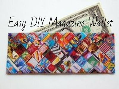 DIY Magazine Wallet.Clutch