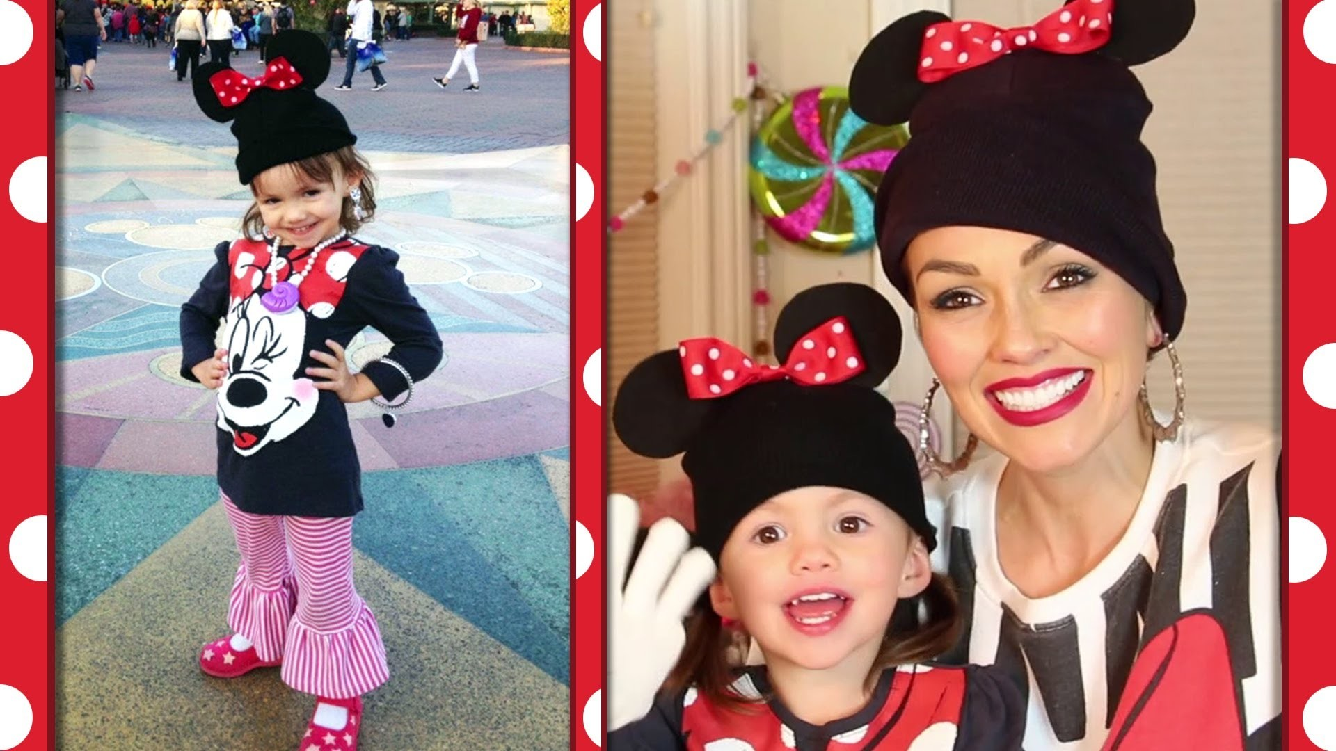 DIY Minnie Beanie and Gloves | A Kandee Johnson Disney Exclusive