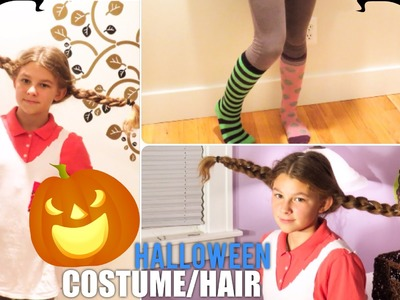 DIY Pippi Longstocking Halloween Costume.Hair Tutorial