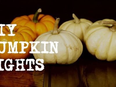 DIY: Pumpkin Candles for Halloween