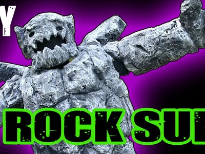 DIY Rock Monster Costume Build