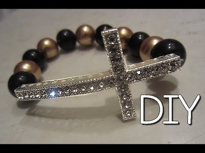 DIY: Sideways Cross Bracelet