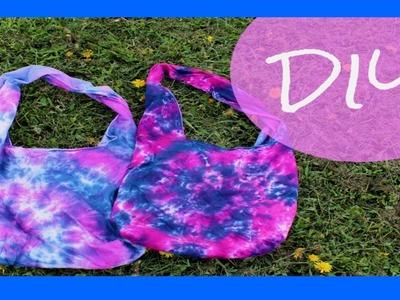 DIY Tie Dye Beach Bag.Hobo Bag