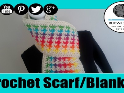 Donna's Mistake Blanket. Scarf Crochet Tutorial