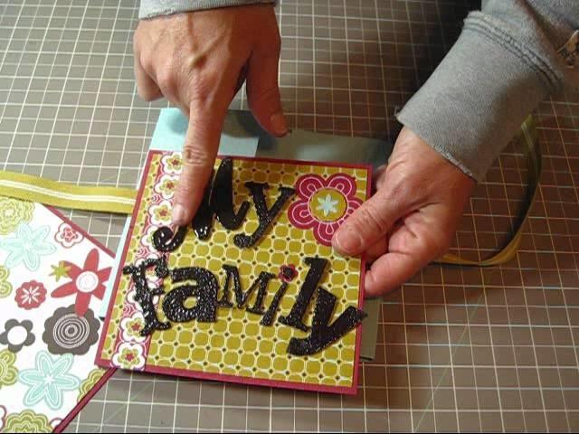 Flip Book Mini Scrapbook Album tutorial