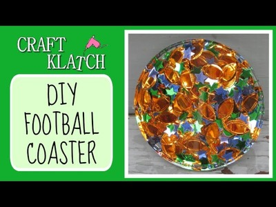 Football Confetti Coaster -  Another Coaster Friday Craft Klatch