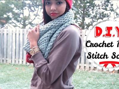 Holiday DIY ❄ Easy Crochet Puff Stitch Scarf | Enchantelle