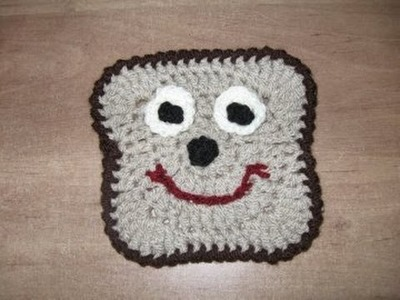 How to Crochet a Bread or Toast Motif Tutorial