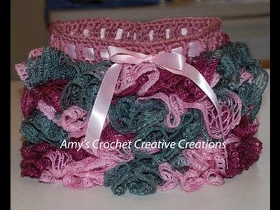 How to Crochet a Sashay Yarn Skirt, Size 2 and 4 year olds Part I