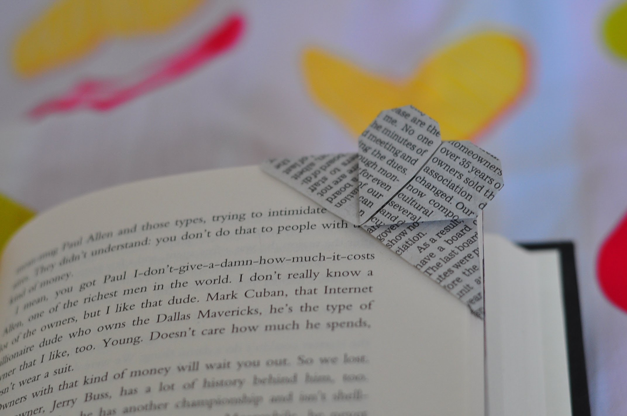 How to fold a corner heart bookmark origami