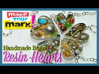 How to: Handmade Bezel Resin Hearts