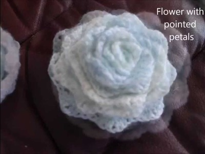 How to make 3D crochet flower