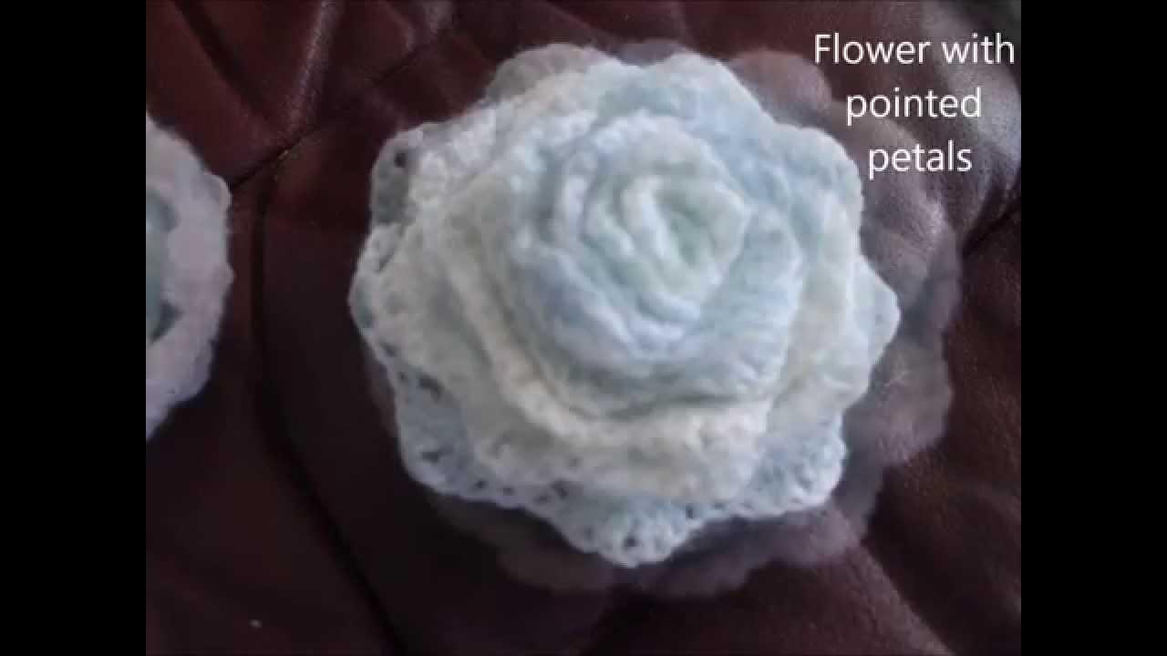 How to make 3D crochet flower