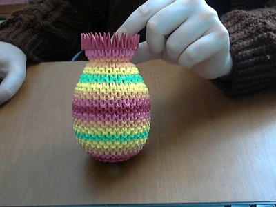 HOW TO MAKE 3D ORIGAMI RAINBOW VASE