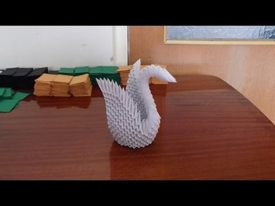 HOW TO MAKE 3D ORIGAMI    SWAN (MODEL2)