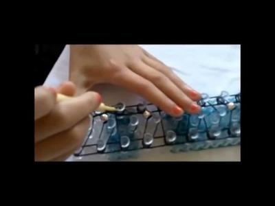 How to make a beaded rainbow loom bracelet | Rainbow Lover