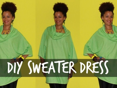 How to Make a DIY Sweater Dress