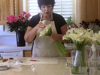 How to make a hand-tied calla lily bouquet  for your wedding -DIY Wedding Flowers