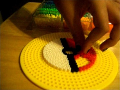 How to make a perler bead Pokeball