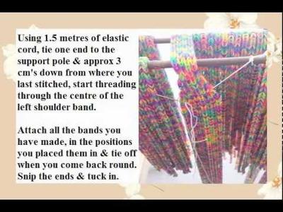 'How to' make a rainbow loom band dress!