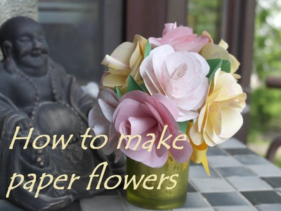 How to make paper flowers, DIY basteln mit Papier, Papierblumen basteln