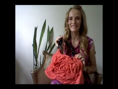 How to - Rosette Flower Purse - hand bag tutorial woohoo! part 3 of 3