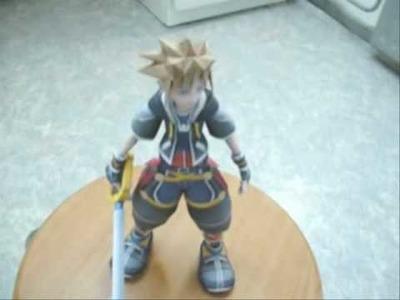 Kingdom Hearts 2 Sora papercraft model