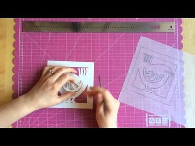 Make a card with simple papercutting
