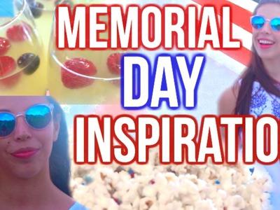Memorial Day Inspiration! DIY Snacks, Makeup & Outfit!