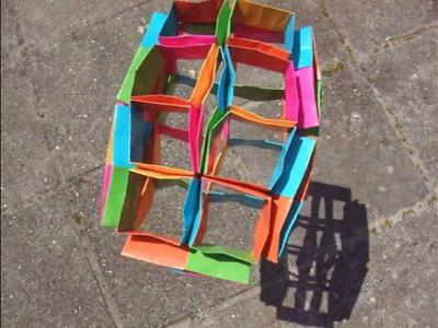Origami - modular - action origami - flexiball shadows - dutchpapergirl