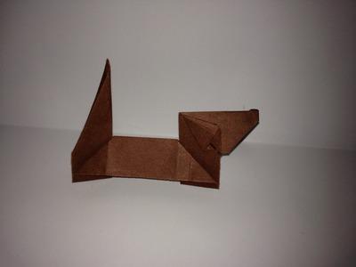 Origami Teckle Dog. Dachshund. (Full HD)