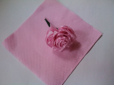 Paper Crafts - Paper Rose - Papercraft Flower Tissue Paper Flower