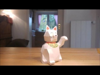 Papercraft Maneki Neko (Lucky Cat)