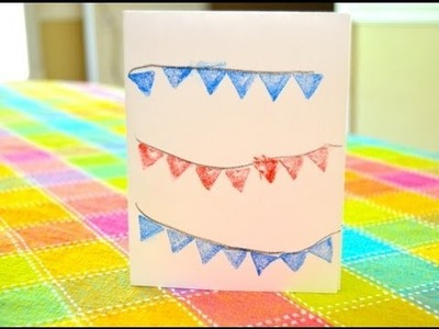 Patriot Craft for Kids -- Easy Note Card