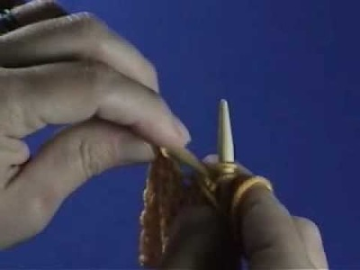 Performing a knitted bind-off on the wrong side of your work