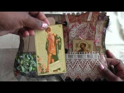 Scrapbook Corset Mini Album by Donna Part 2