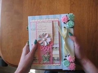 Scrapbook Mini Album with Stitched and Beaded spine (Tutorial available)