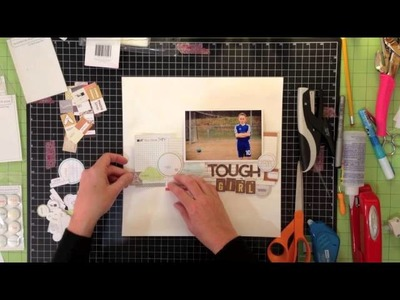 Scrapbook Process: Evalicious Layout - Sketch to Page