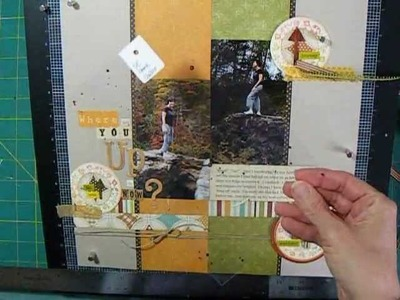 Scrapbooking Page Process - Embellishment Groupings and Printed Journaling