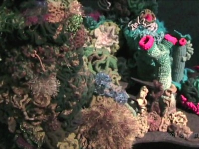 Sydney Hyperbolic Crochet Coral Reef Exhibit - Part 1
