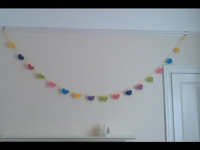Valentines day garland, love heart crochet, fresh off tha hook thursday