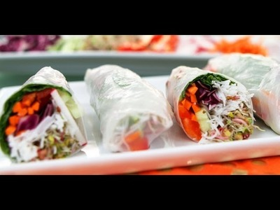 Vegetarian Spring Roll Recipe | No-Cook Recipe | Food How To