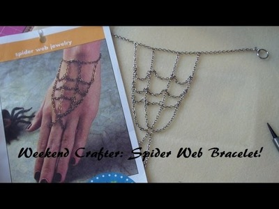 Weekend Crafter: Spider Web Bracelet Tutorial!