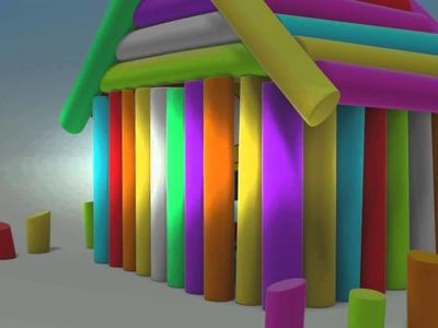 WonderBalls! House Building - Sorghum Straw Craft (cartoon) Episode 23