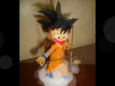 Young Son Goku Papercraft Model, with music video.wmv